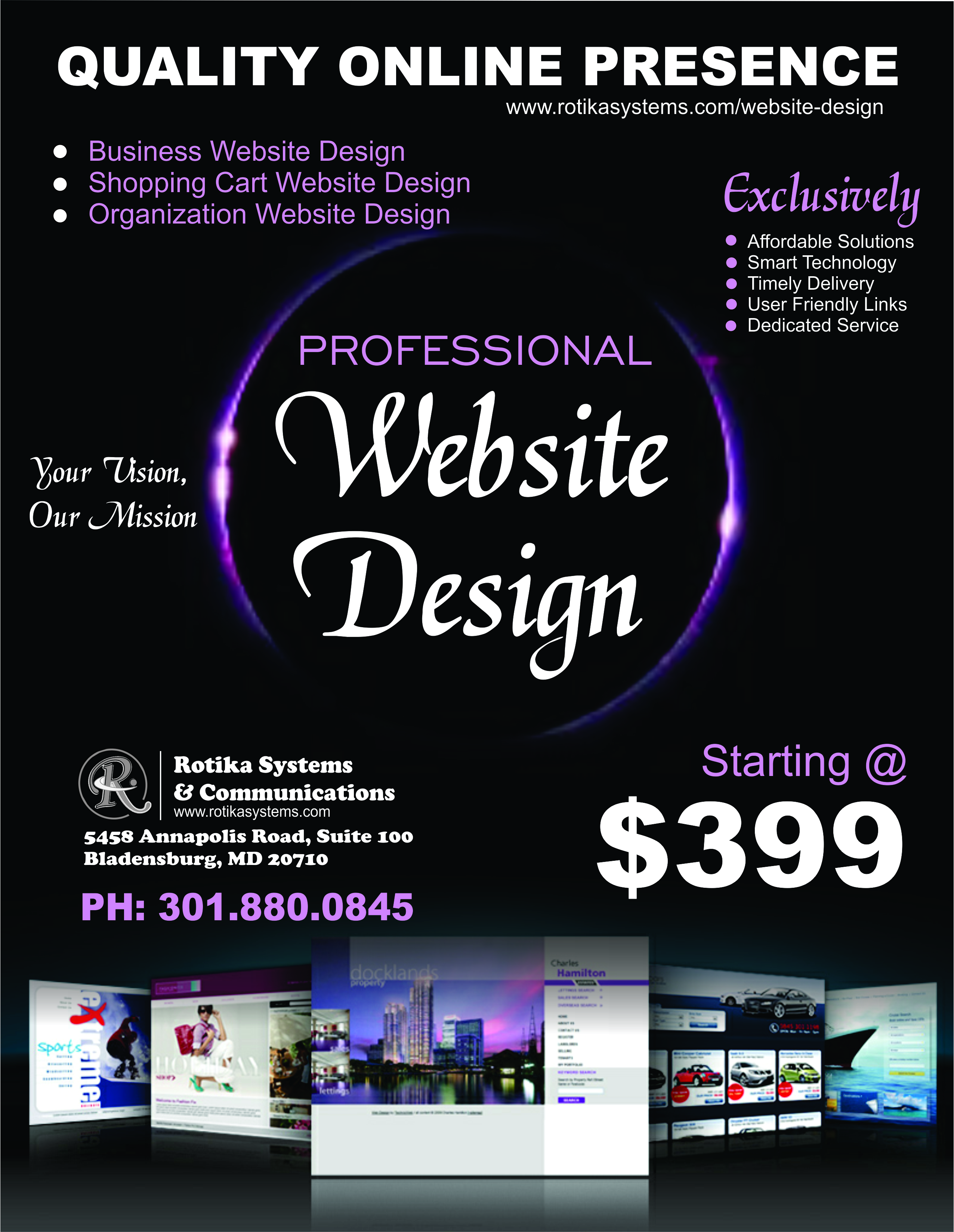 rotika website flyer